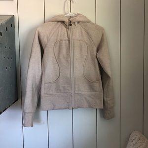 Lululemon cream scuba hoodie